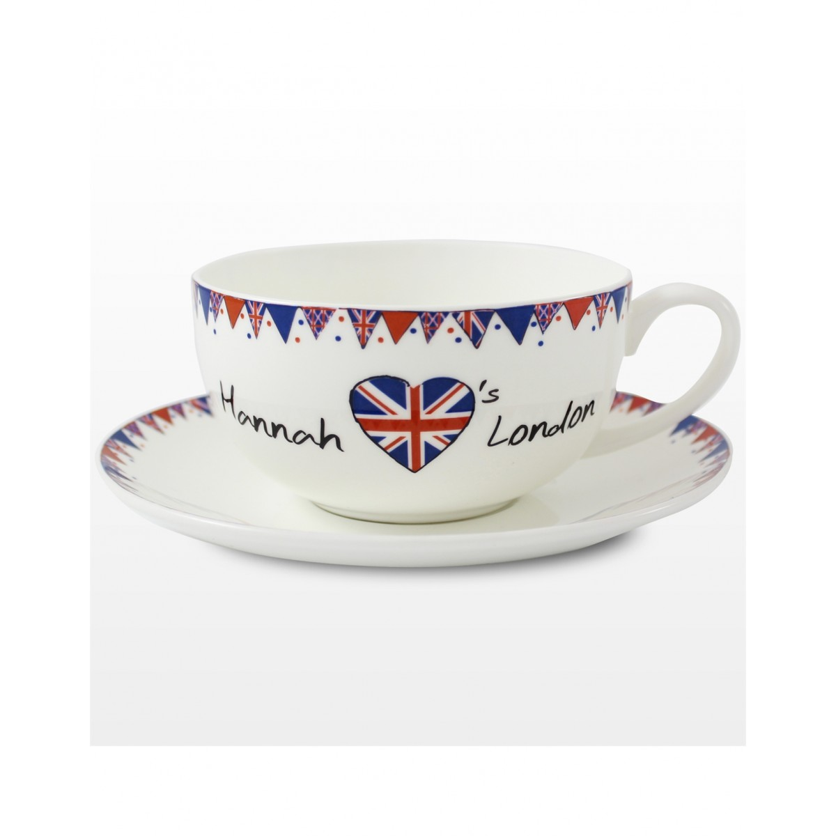 Buy Personalised Teacup And Saucer Union Jack From