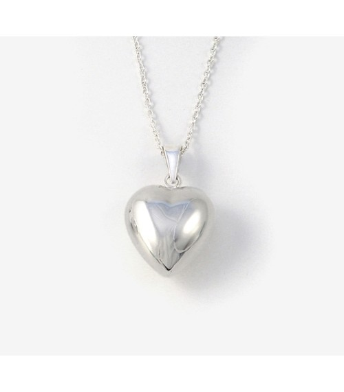 Silver Plated Chiming Heart Pendant & Chain