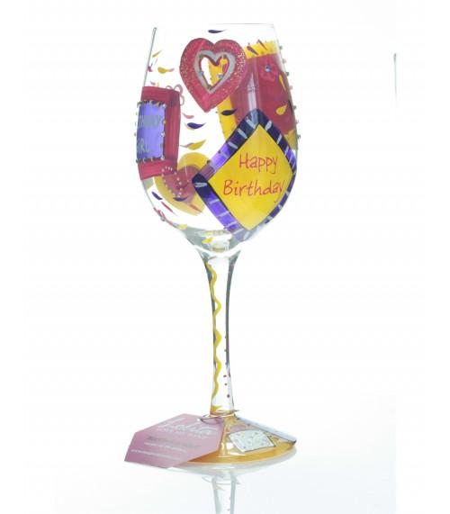Birthday Girl Wine Glass by Lolita Designs