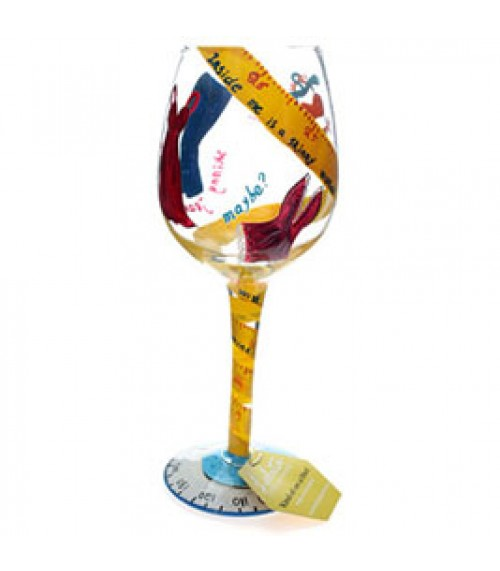 Kind Of On a Diet Lolita Wine Glass from Designs by Lolita