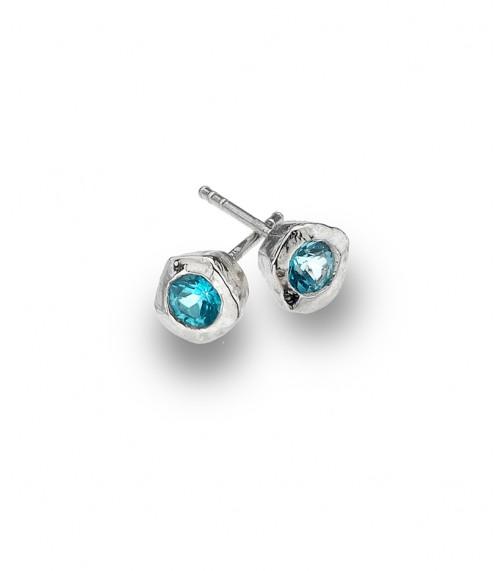 Sea Gems Turquoise Cubic stud Earrings - P2333B