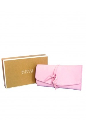 Pink Leather Jewellery Roll by Undercover