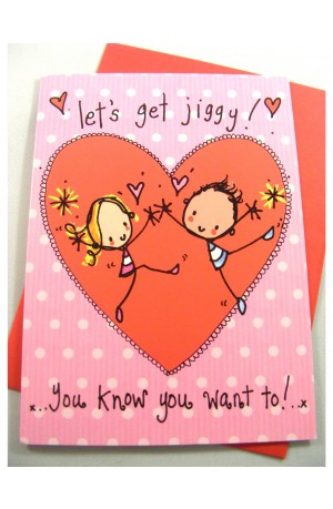 Let's Get Jiggy Card by Juicy Lucy