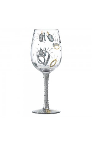 Girl's Best Friend Wine Glass