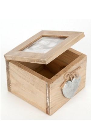 Silver Heart Photo Box