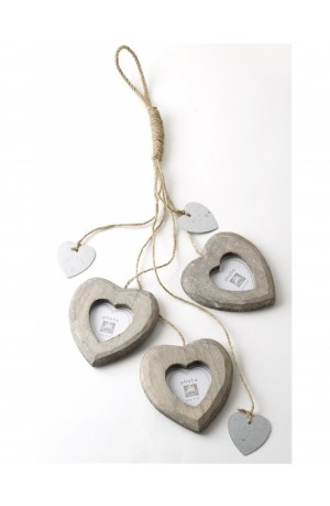 Hanging Hearts Photo Frame