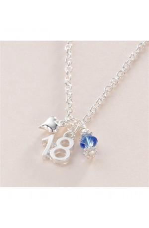 18th Birthday Birthstone Necklace