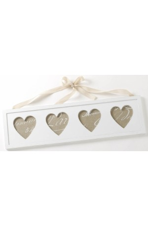 Chic 4 Heart Wooden Photo Frame
