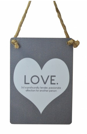 Love Definition Metal Sign