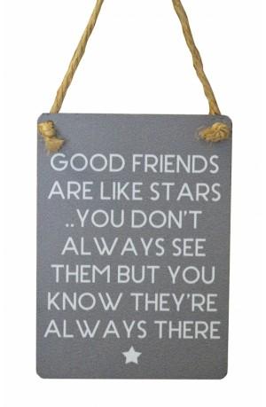 Good Friends Mini Grey Metal Sign