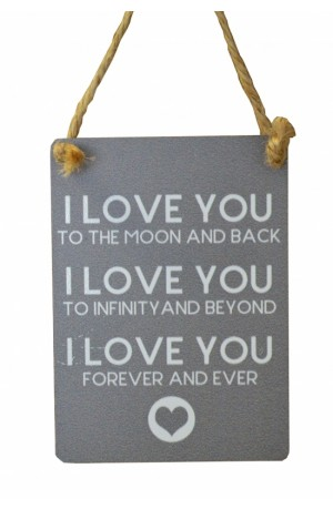 I Love You to the Moon and Back Metal Sign
