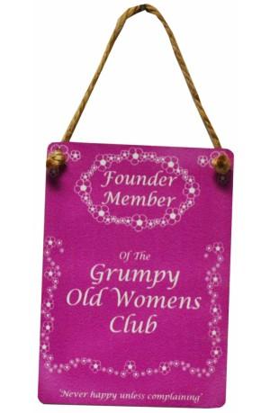 Grumpy Old Women Mini Sign
