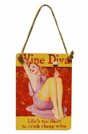 Wine Diva - Plaque