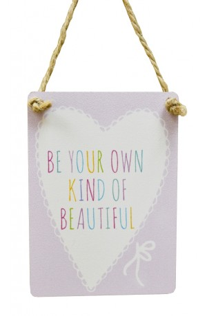 Own Kind Of Beautiful Pastel Mini Sign