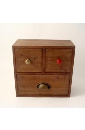 Rustic Three Draw storage chest