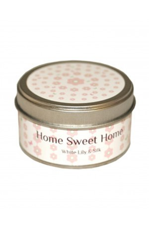 Home Sweet Home Candle -- White Lily and Silk
