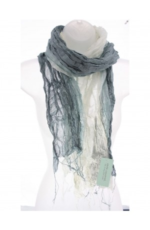 Fossil Grey Silk Wrinkle Scarf by Earth Squared