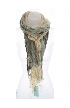 Bracken Silk Wrinkle Scarf by Earth Squared
