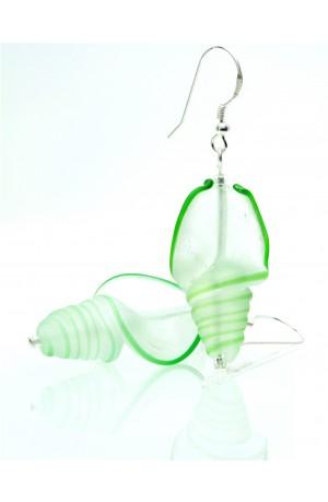Glass Shell Earrings by Felicity Gail