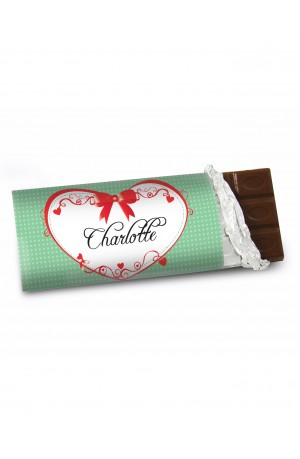 Personalised Chocolate Bar - Red Ribbon