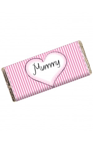 Personalised Chocolate Bar - Pink Stripes