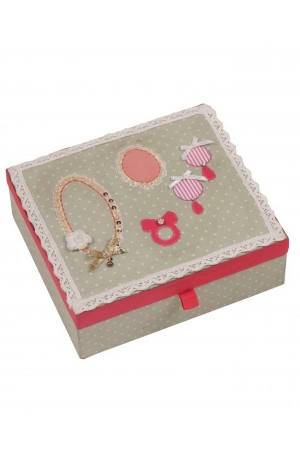 Button Girl Embellished Jewellery Box