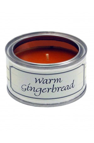 Warm Gingerbread Filled Tin Candle by Pintail