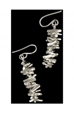 Silver Coral Earrings by Otis Jaxon
