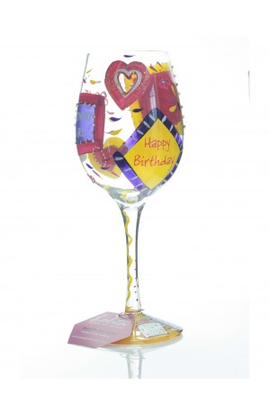 Birthday Girl Wine Glass by Lolita Designs