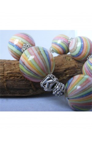 Swirly Bead Bracelet by Kirsty Allan