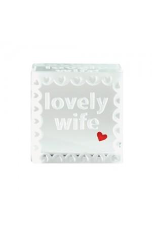 Lovely Wife Glass Token