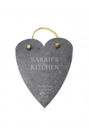 Personalised Slate Hanging Heart