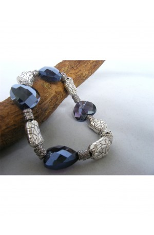 Purple Hearts Bracelet by Kirsty Allan