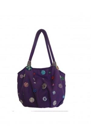 Lua Lilac Button Bag