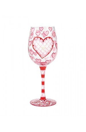 'Be Mine' Wine Glass