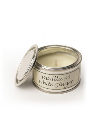 Best Wishes Candle in Tin -- Vanilla and White Ginger