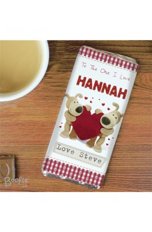 Boofle Heart Personalised Chocolate Bar
