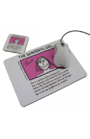 The Wonderful Girl Mouse Mat and Coaster