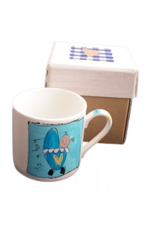It's A Boy Hand-painted Boxed Mug