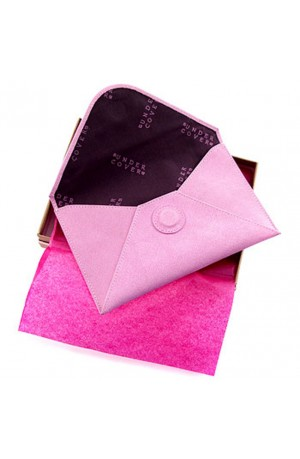 Pink Leather Document Wallet by Undercover