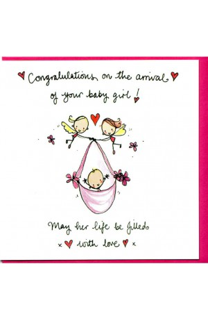 Congratulations On The Arrival of Your Baby Girl! Card