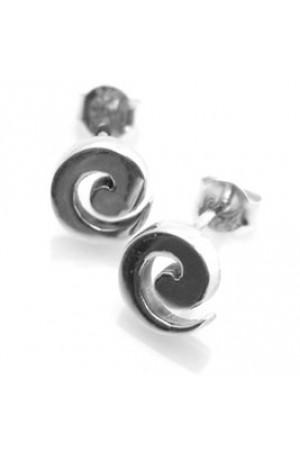 Sea Gems Silver Swirl Earrings