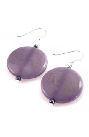 Blue Tagua Nut Earrings by Felicity Gail