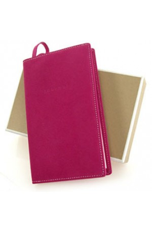 Magenta Leather Journal Notebook by Undercover