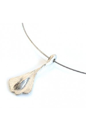 Ginkgo Pewter Pendant by Glover and Smith