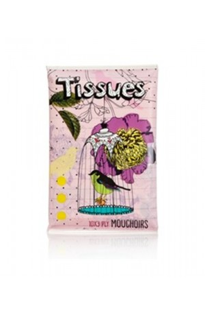 Printed Pocket Tissues - Birdy