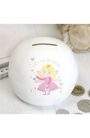 Ceramic Garden Fairy Money Box with Personalisation