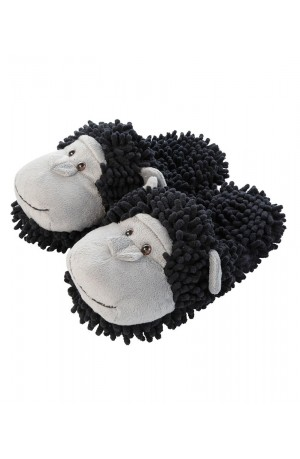 Fuzzy Friends Chimpanzee Slippers
