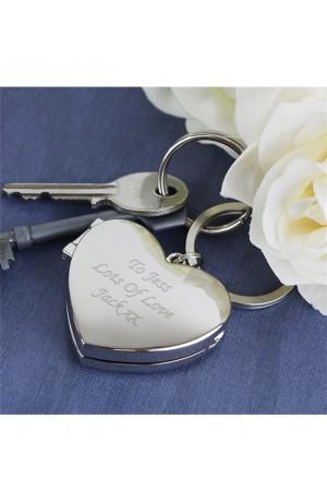 Heart Photo Frame Personalised Keyring