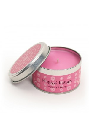 Hugs and Kisses Tinned Candle by Pintail Candles